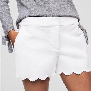 LOFT Shorts - Loft white scalloped shorts